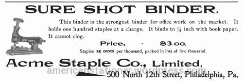 acme sure shot 1901 ad sm wm
