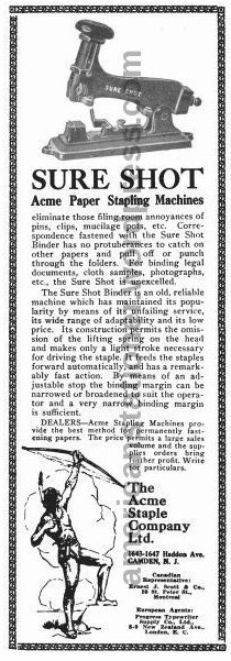 acme sure shot 1919 ad sm wm