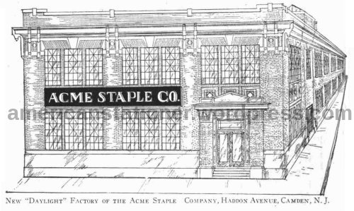 new acme factory haddon ave camden nj 1915 american stationer sm wm