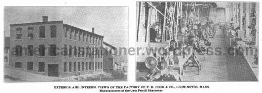 exterior and interior views of fh cook factory 1906 sm wm