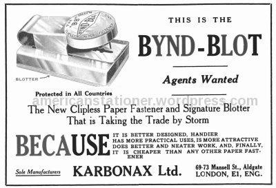 Bynd Blot Ad 1922 sm 128 wm