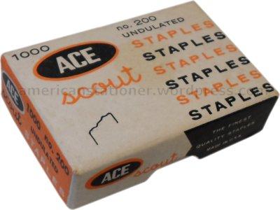 ace scout staples box 1960s wm sm