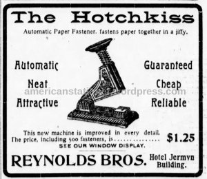 newspaper ad from 1901