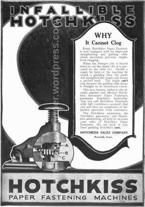 magazine ad from 1922