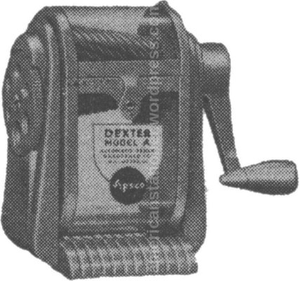 dexter model a pencil sharpener illustration sm wm