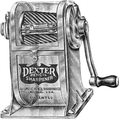 dexter no 1 pencil sharpener illustration sm wm