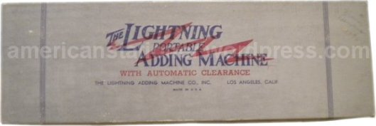 lightning adding machine box v1ab wm sm