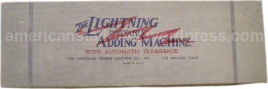 lightning adding machine box v1ab wm sm