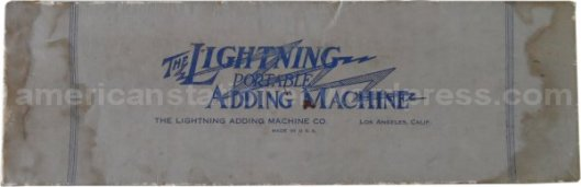 lightning adding machine box v2a wm sm