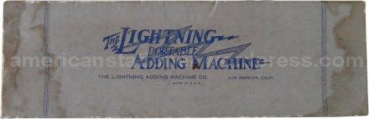 lightning adding machine box v2a wm sm