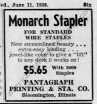 1958 Monarch Stapler Ad Jun 11 wm sm