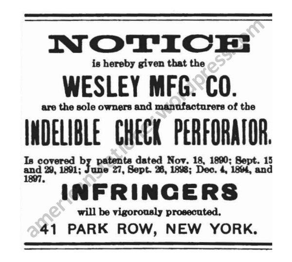 1897 American Stationer Infringers Ad wm sm