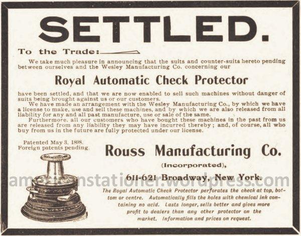 1900 American Stationer Settled ad wm sm
