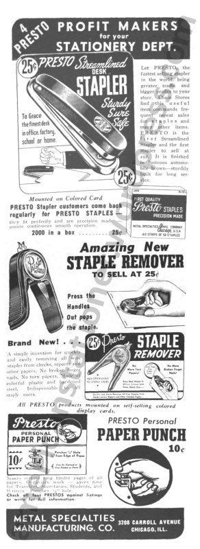 1942 Chain Store Age Presto Ad wm sm