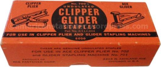 clipper glider staple box wm sm
