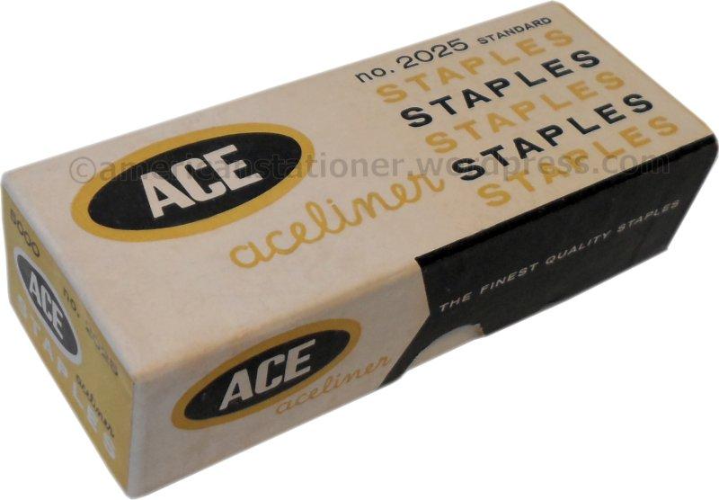 Aceliner Box of Staples 1960s noprice wm sm