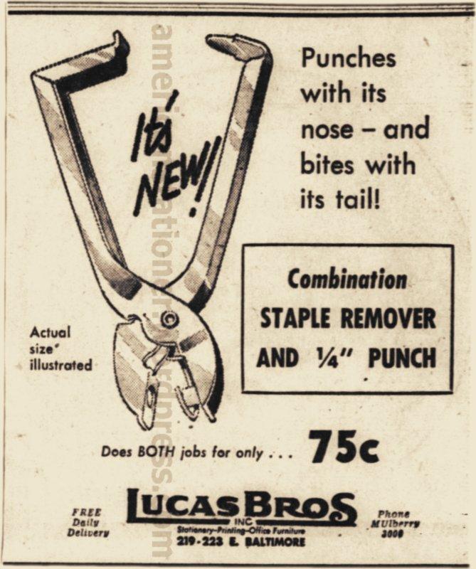 1952 Baltimore Sun Ad wm sm