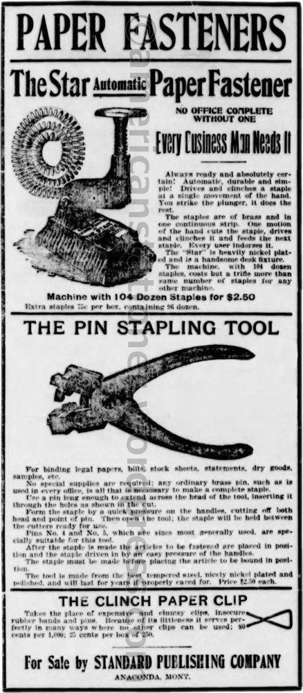 1897 Anaconda Standard Ad wm sm